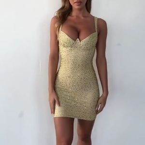 Ohpolly Gold Sequin Dress *NWT*